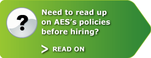 Need to read up on AES's policies before hiring? Read on.